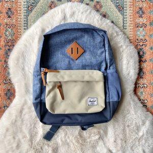 Herschel Toddler Preschool Kindergarten smaller backpack brand new! Blue / cream